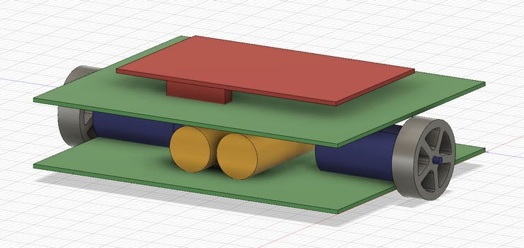 Initial CAD model after brainstorming session
