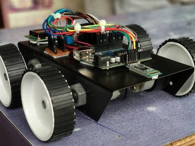 Voice control robot using arduino uno with ir sensor and lcd