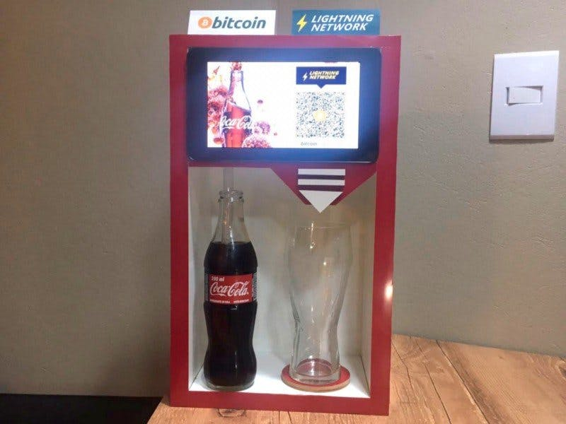 Coke Vending Machine with Bitcoin and Lightning Network
