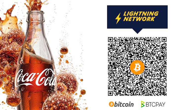 QR code from BTCPAY