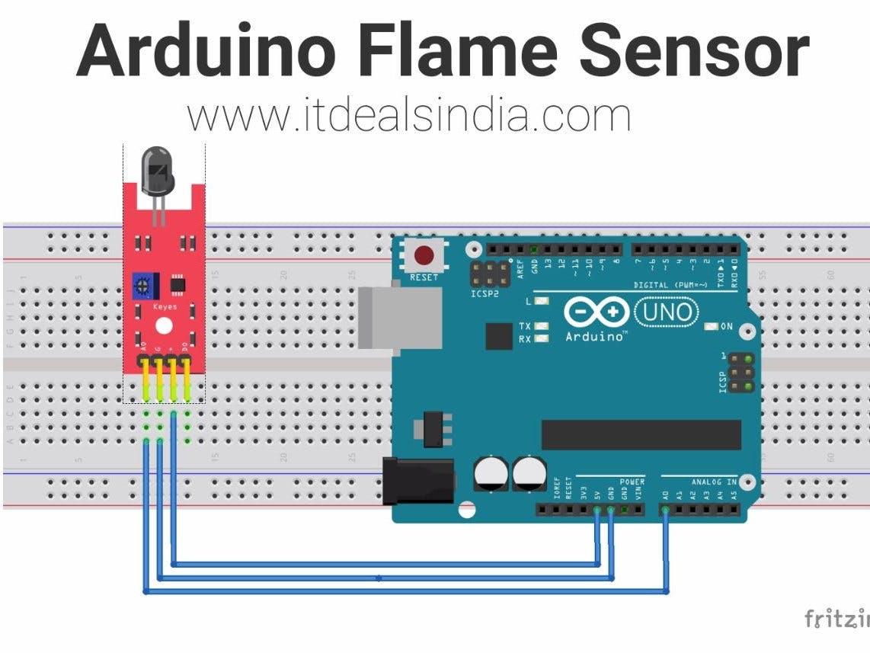 arduino flame sensor hackster io boat wiring schematics