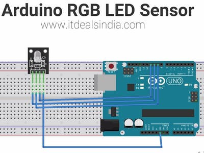 Arduino RGB LED Sensor Step By Step Hindi |KY-016|