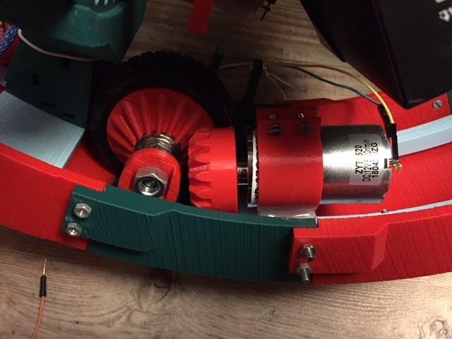 Rolling Motor + Bevel Gears