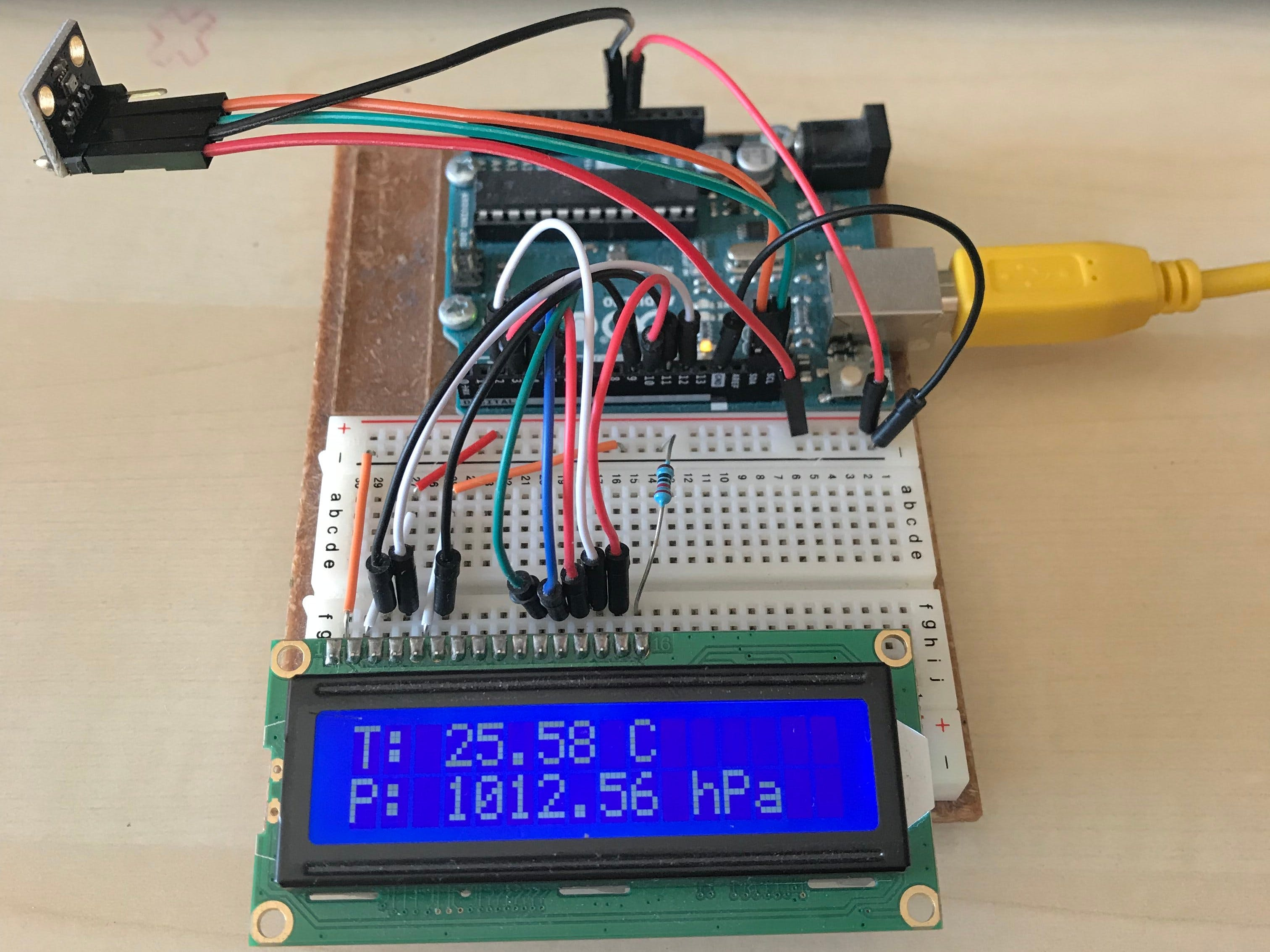 Arduino Weather Station v1.0 (BMP280)