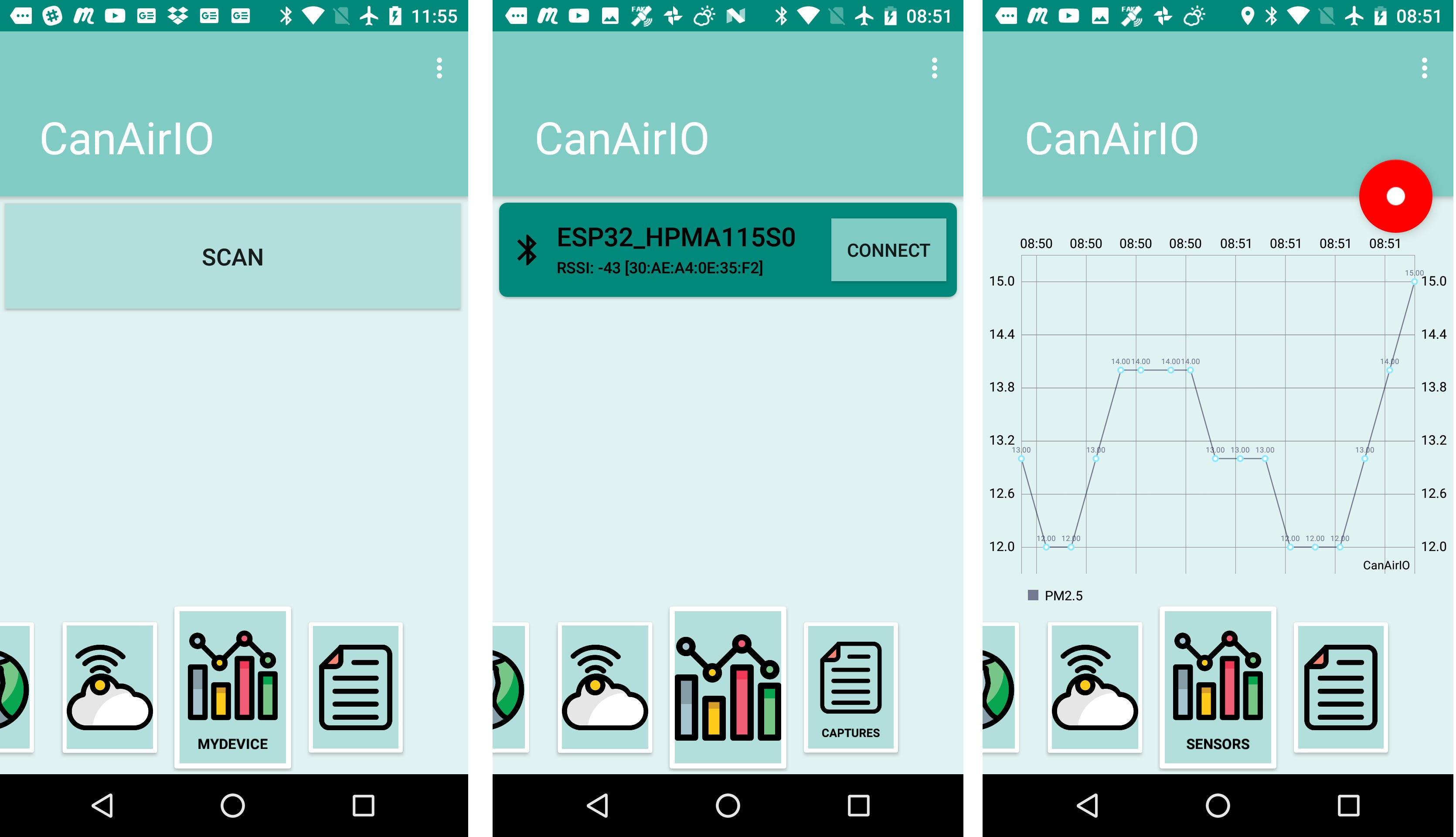 Quick start CanAir.io Android