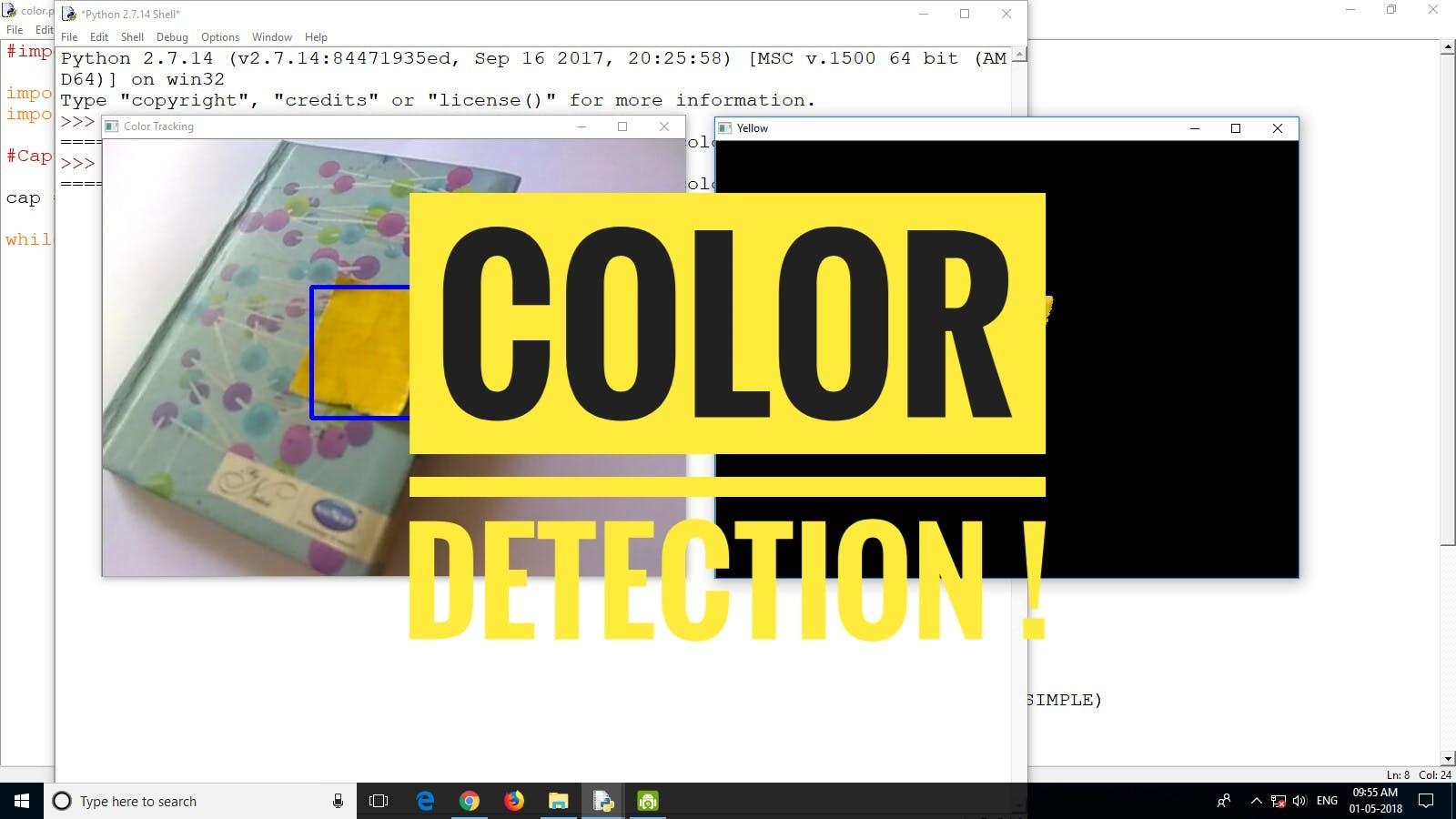 Colour Detection Using Opencv Python Hackster Io