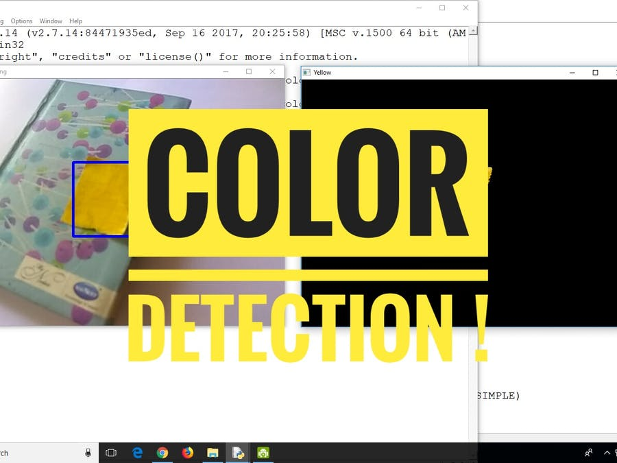 Colour Detection Using OpenCV & Python - Hackster io