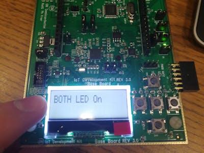 IoT Development Kit (IDK) Example: Baseboard LEDs