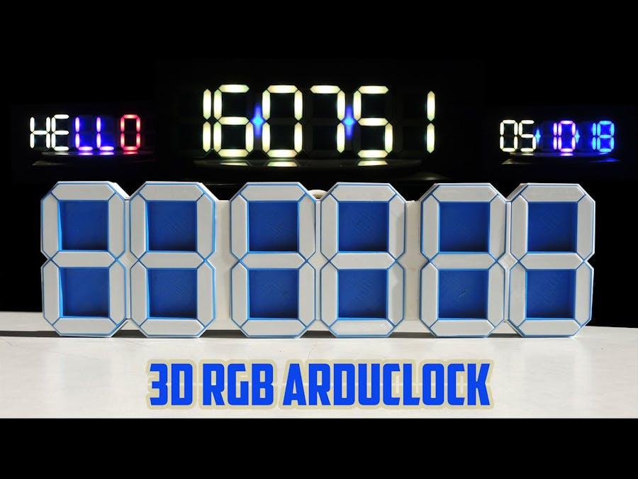 3D RGB Arduclock