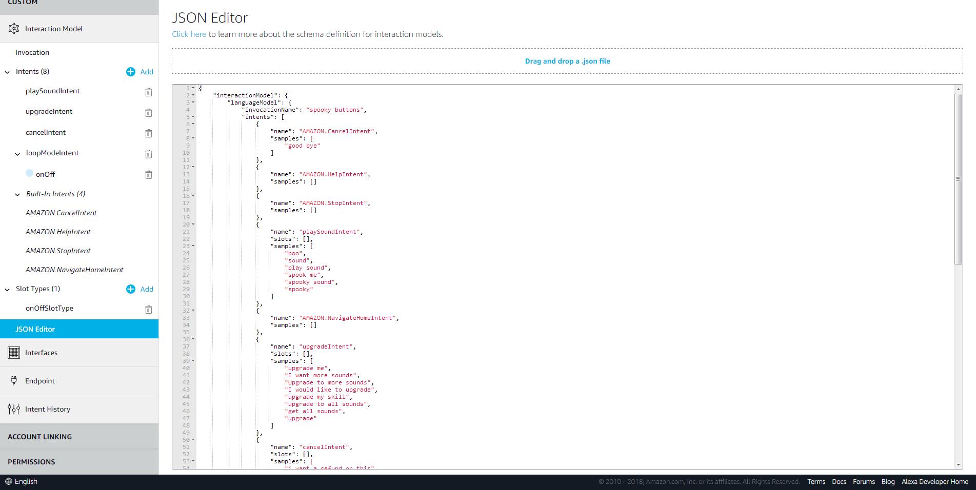Screenshot 2018 10 08 alexa skills kit developer console blnhylmmvj