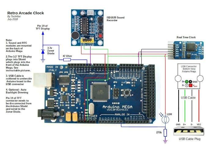 Retro Arcade Clock - Arduino Project Hub