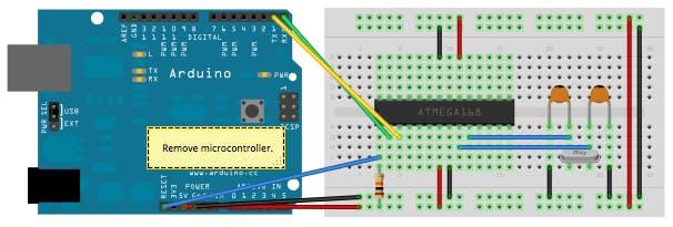 Figure 3 - Arduino Uno for programming the Atmega328P.