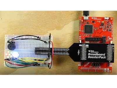LaunchPad Jingle Bells Audio Circuit and LED Array