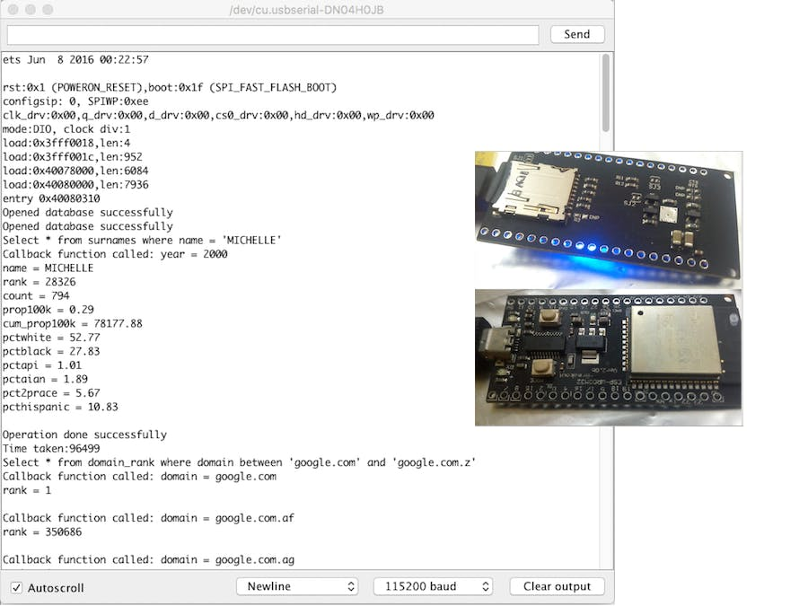 Sqlite3 Library for ESP32 Arduino Core - Arduino Project Hub