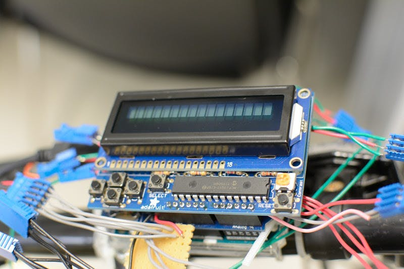 LCD Display with buttons