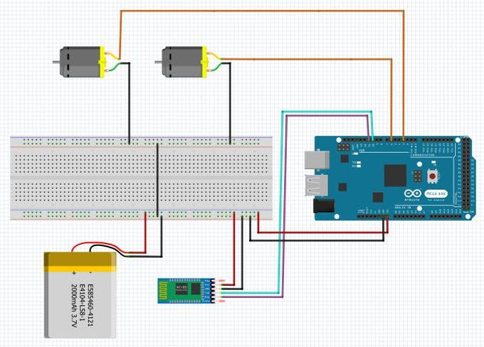Circuit Assembly for Bluetooth Controlled Arduino Robotic Car
