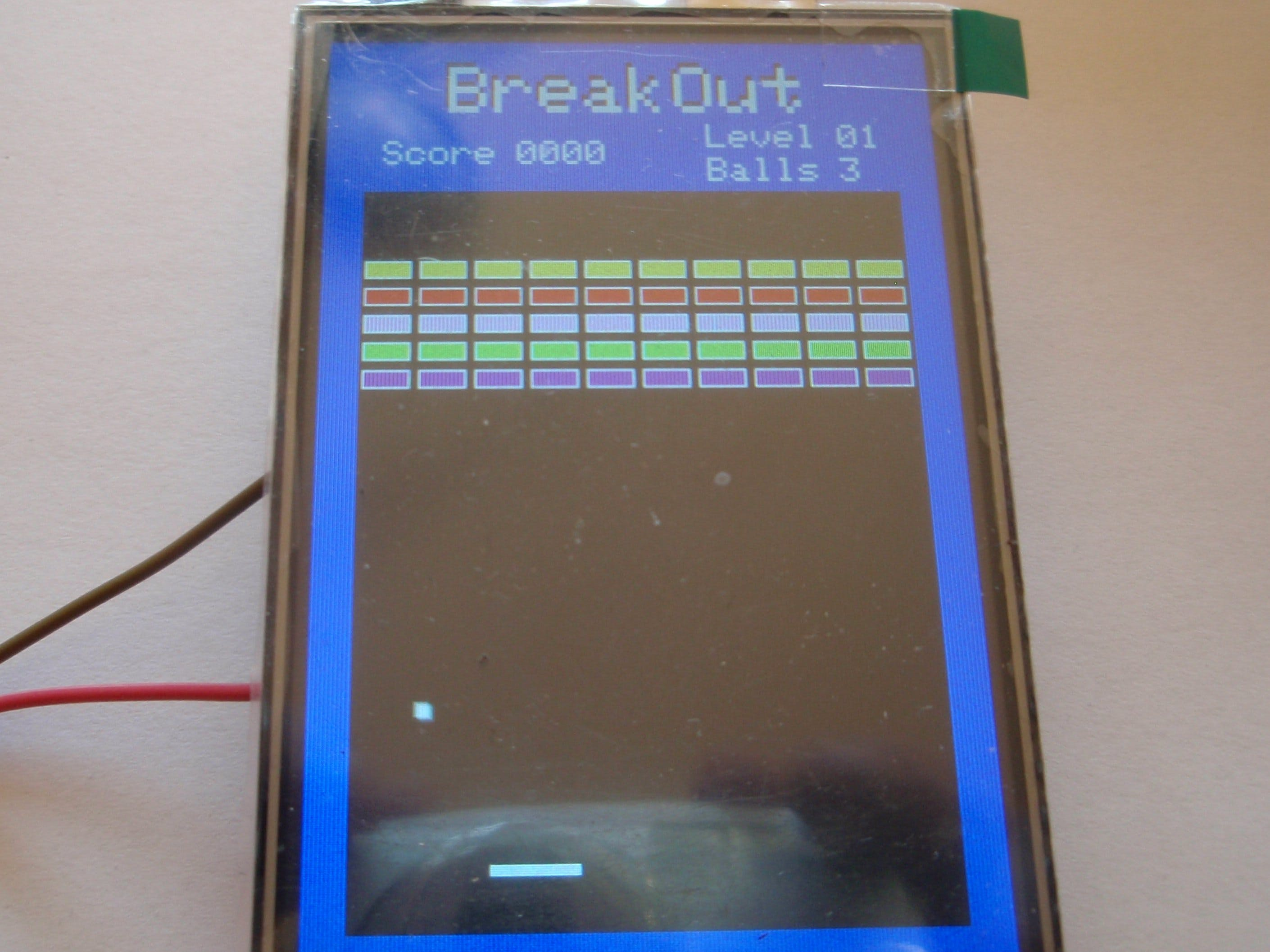 Arduino Blockout with touchscreen
