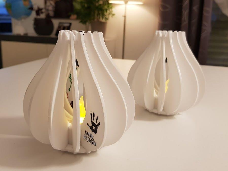 Laser Cut Lamp for LED Tea Lights