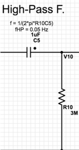 Figure 7 - High-pass filter circuitry.