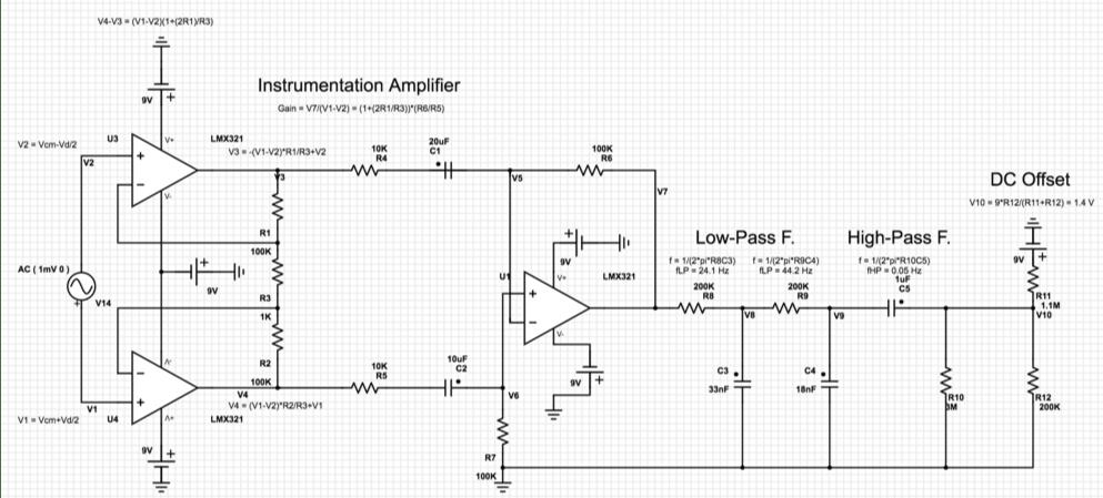 Figure 9 - Complete analogic circuitry.