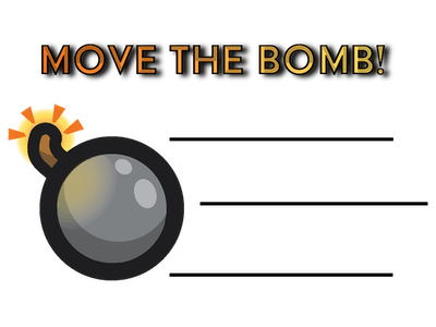 Move the bomb (for the Alexa with Alexa buttons)