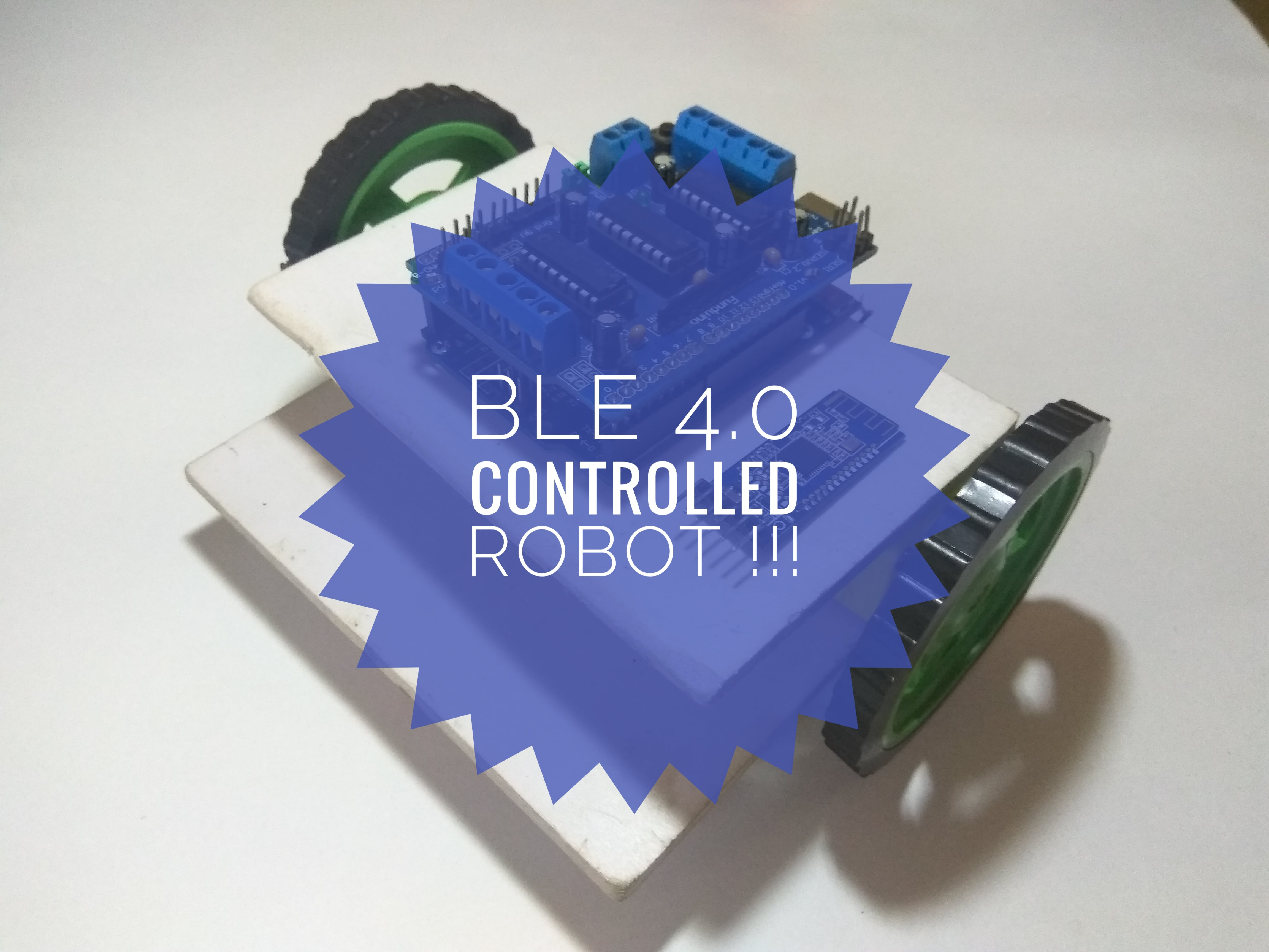 Smartphone-Controlled Robot Using BLE 4.0