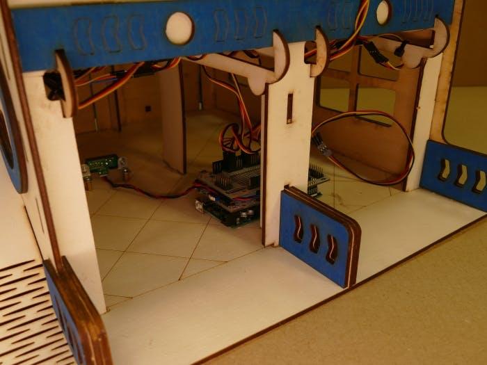 Arduino board on the ground floor