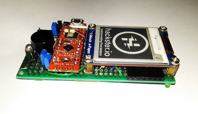 PWM, ADC, I2C, Serial outputs (black female header under the display)
