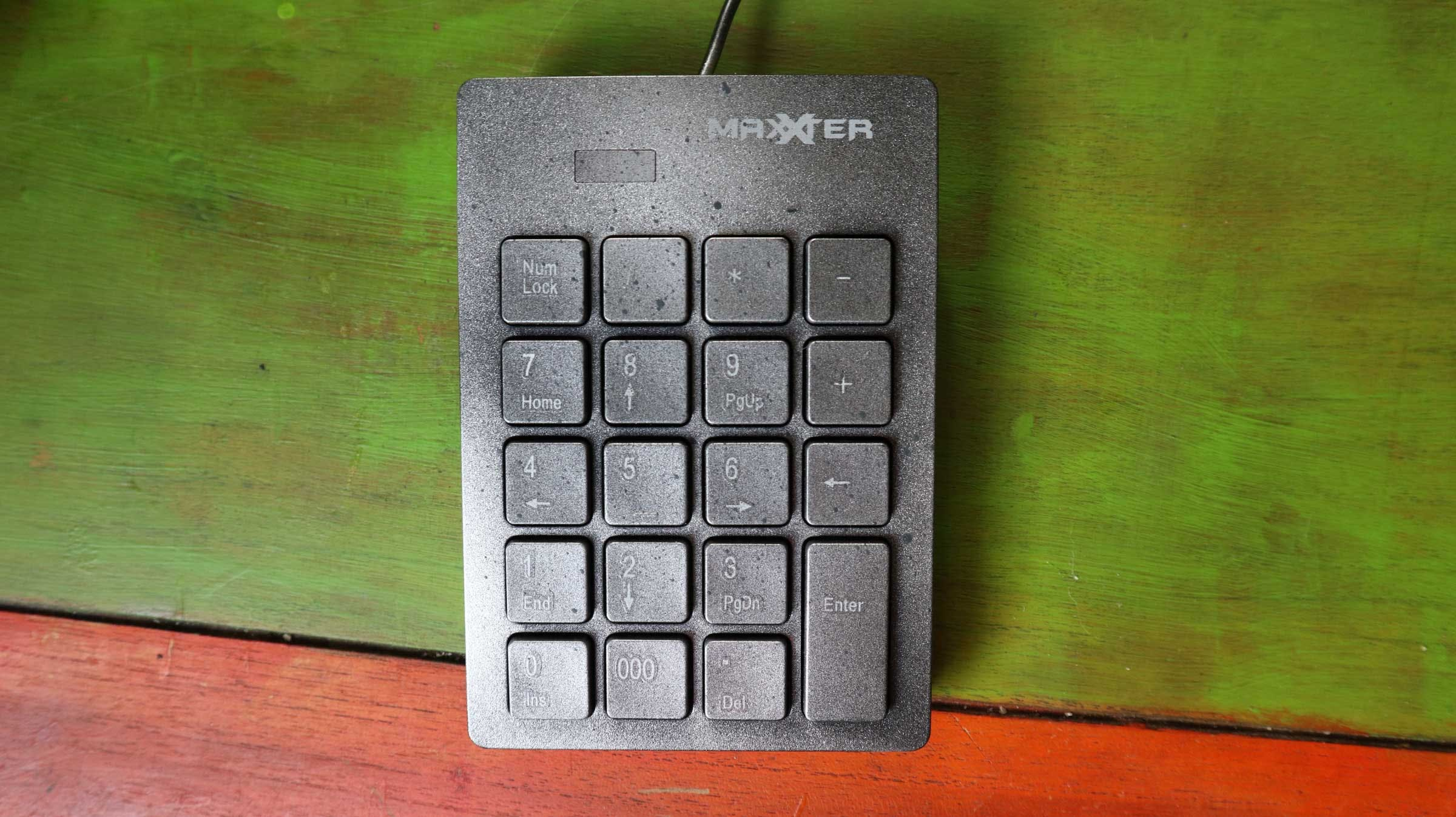His controls, a simple keypad