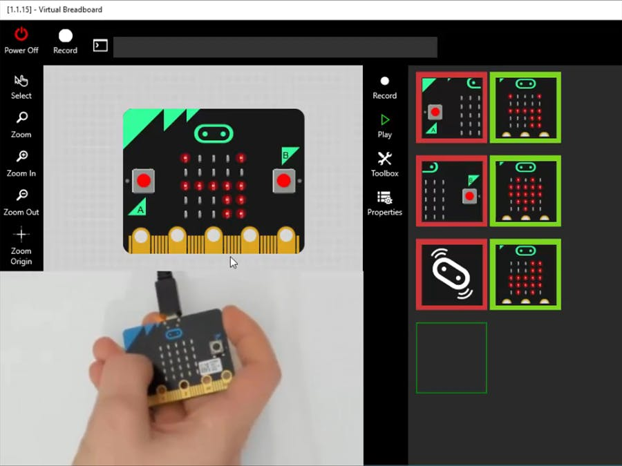 Touch Logic Control for VBB with Ada micro:bit Interpreter
