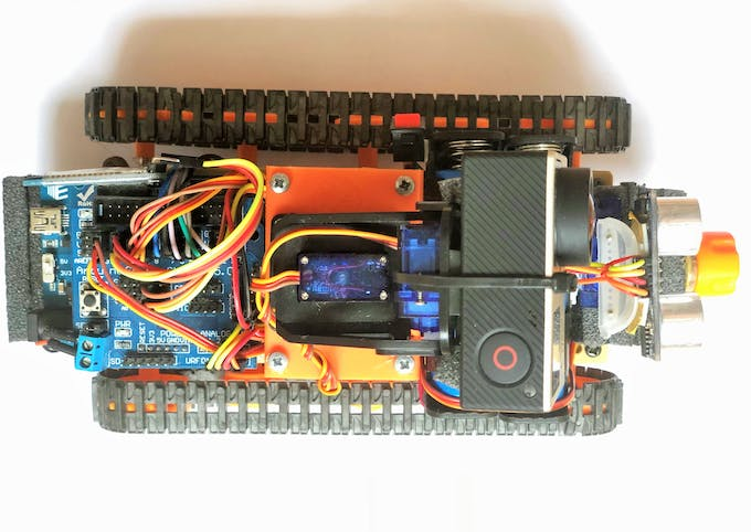 Arduino Robot w/ GoPro and FPV iPhone Control via