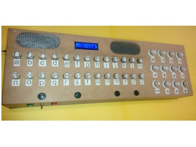 Braille Vocalization Keyboard