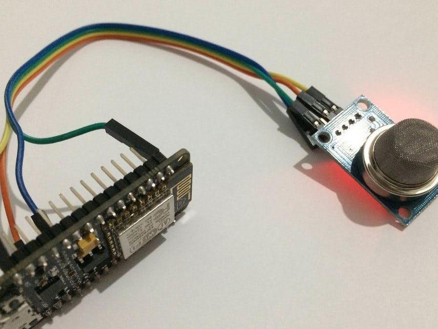 NodeMCU-Based IoT Project Connecting MQ -135 Gas Sensor - Hackster io