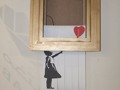 "Build Your Own Banksy's ""Self-Destruct Artwork Frame"""