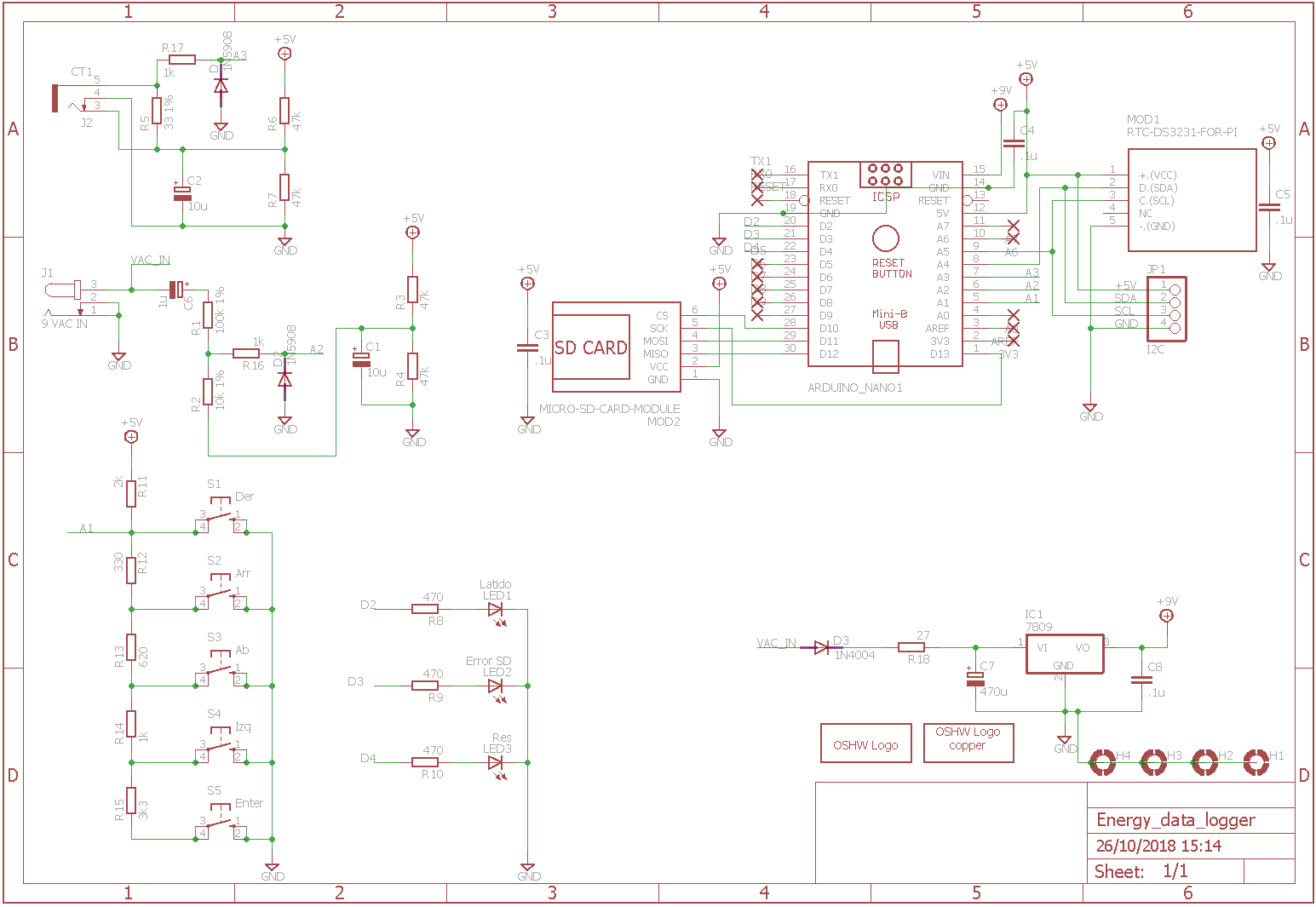 Energy Data Logger Generated Using Eagle Schematic Software The Formatted Full Schematics