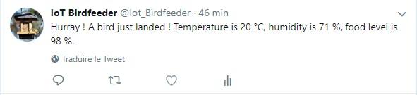 Example of tweet sends via IFTTT