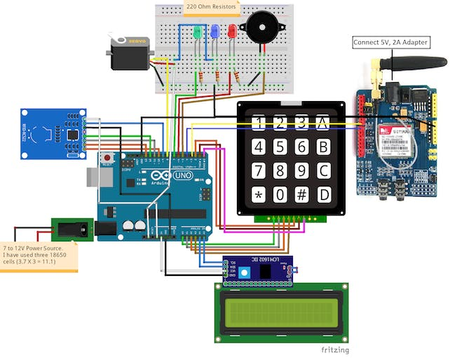 Stupendous Rfid And Keypad Door Lock And Alert System Using Arduino Arduino Wiring 101 Mecadwellnesstrialsorg