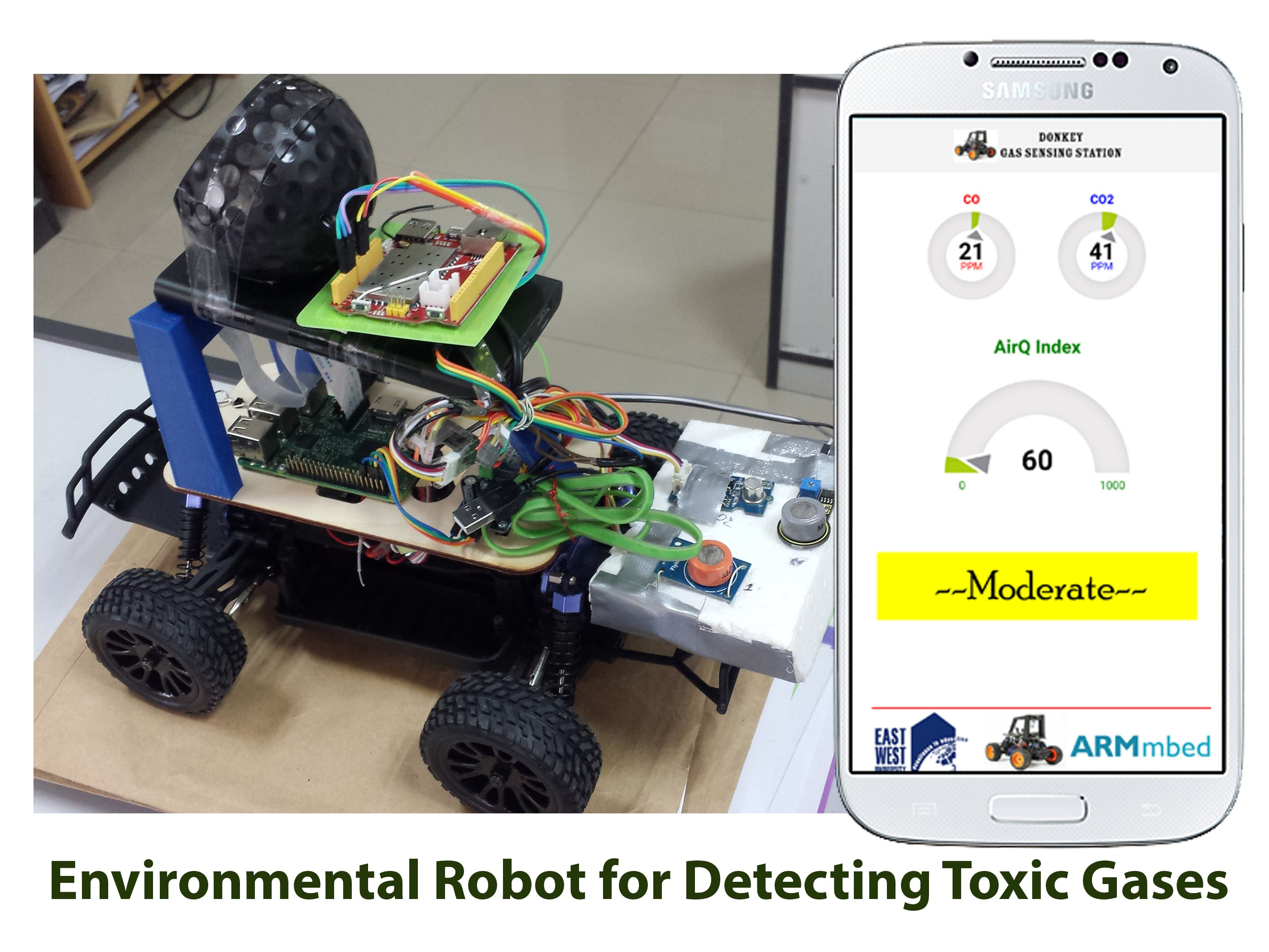 Environmental Robot for Detecting Toxic Gases