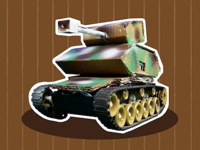 ATV Battle Tank: Smartphone Controlled Tank Robot