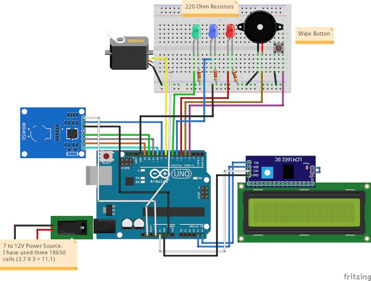 RFID Based Access Control System Using Arduino - Hackster io