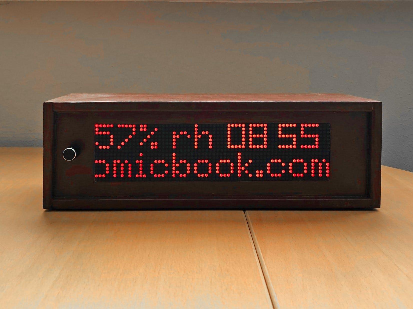 1024 LED Matrix WiFi Message Board with Menu + Web Interface