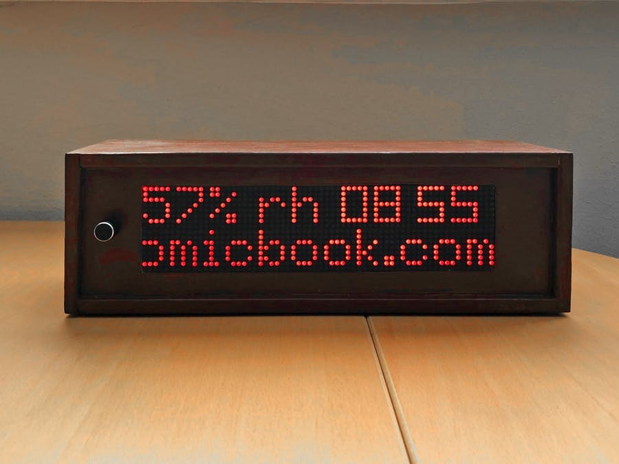 1024 LED Matrix WiFi Message Board with Menu + Web Interface