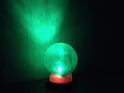 Wireless LED Lamp with IR Remote Control