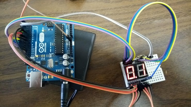 Wiring the Arduino UNO to the LED display