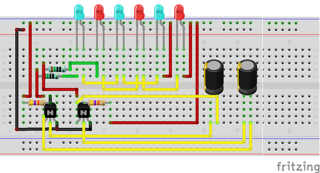 Dual Led Chaser Using Two Bc548 Circuit Youtube Flash 8vnbgox7py