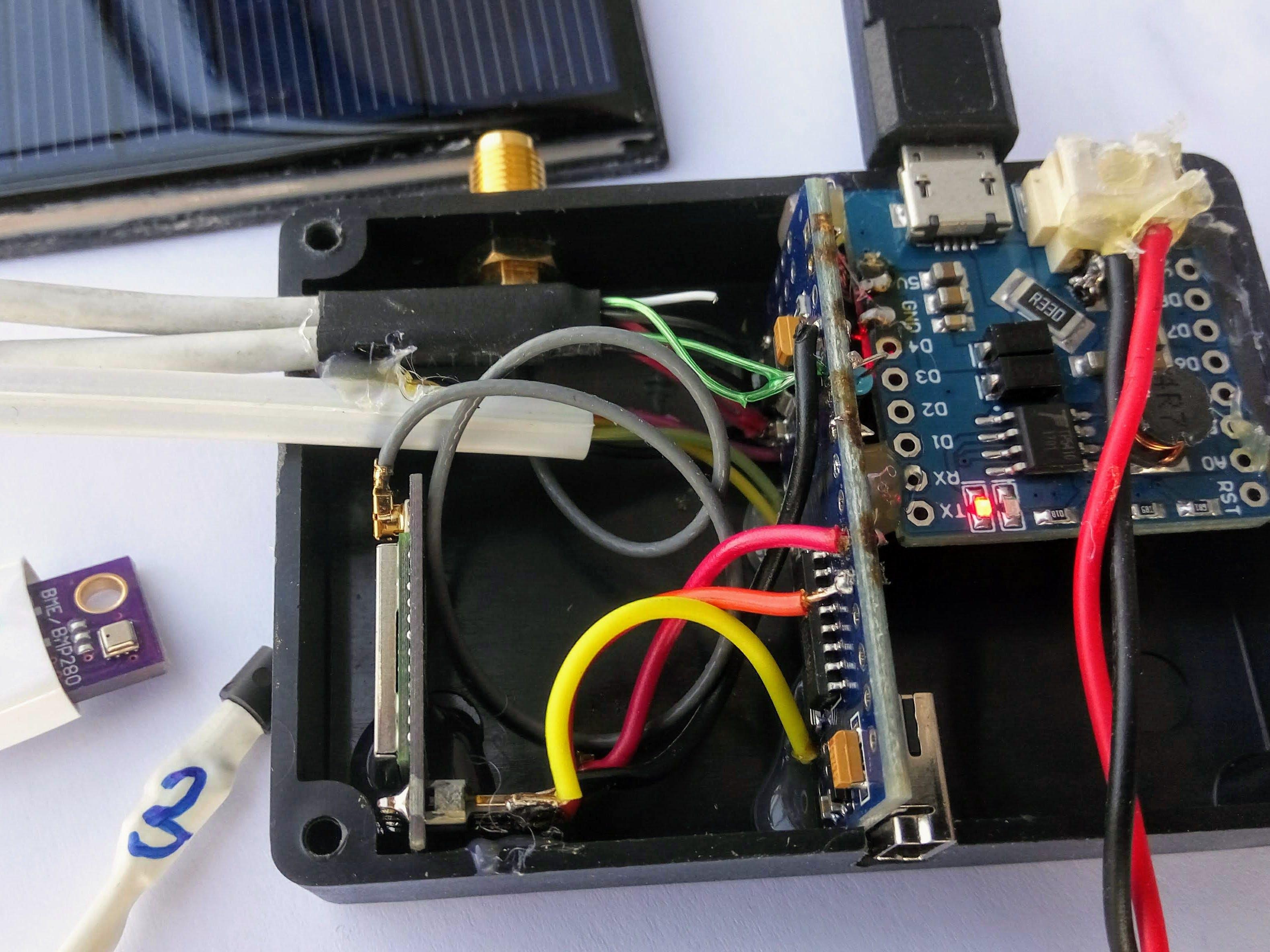 Solar Powered (Beehive) Monitor Using Sigfox