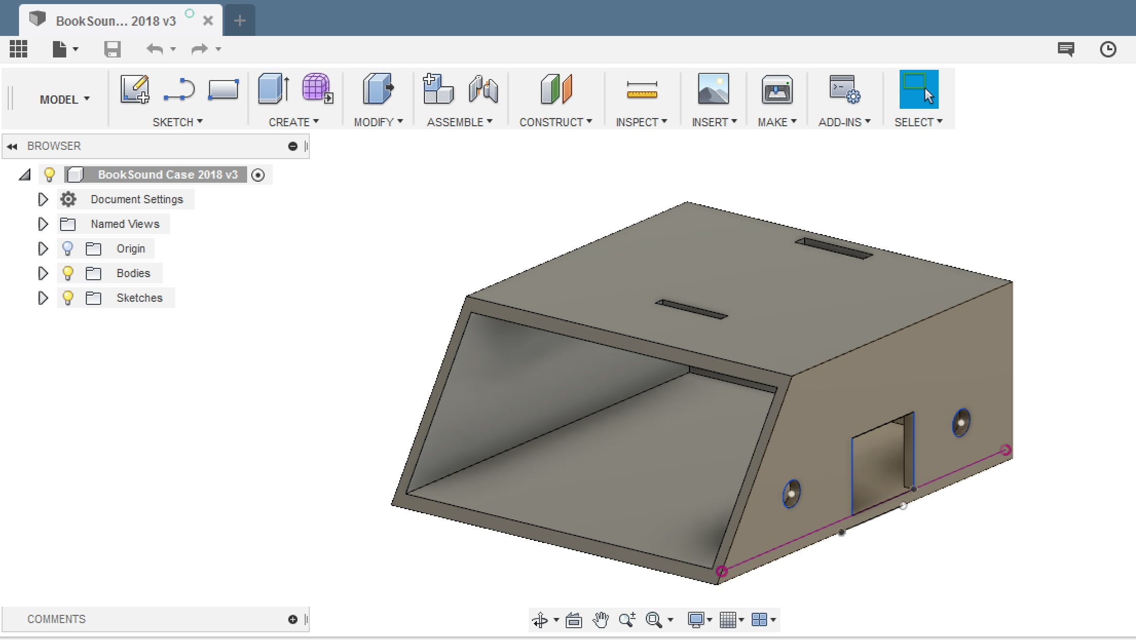 Fusion360 for modelling the custom case