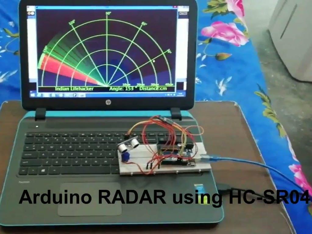 Radar Using Ultrasonic Sensor