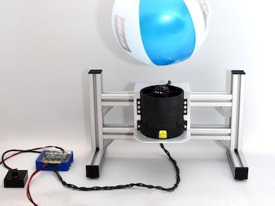 BLDC-motor driven Impeller hovering a beachball
