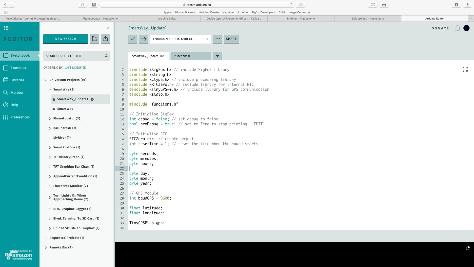 The first step is to open the project's code